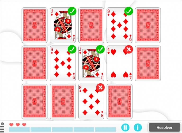 Emparelhe as cartas de baralho